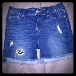 Justice jean shorts size 12 slim